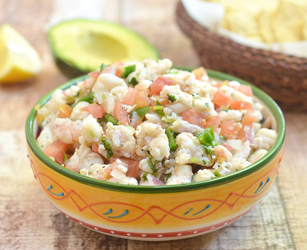 Shrimp Ceviche is a refreshing appetizer or summer dinner that's fresh and slightly spicy