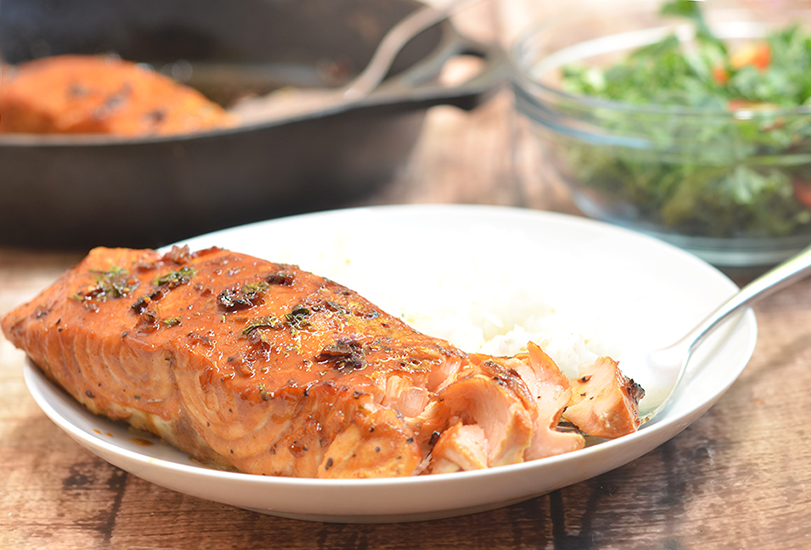 Honey garlic salmon is an easy weeknight dinner ready in 20 minutes or less!