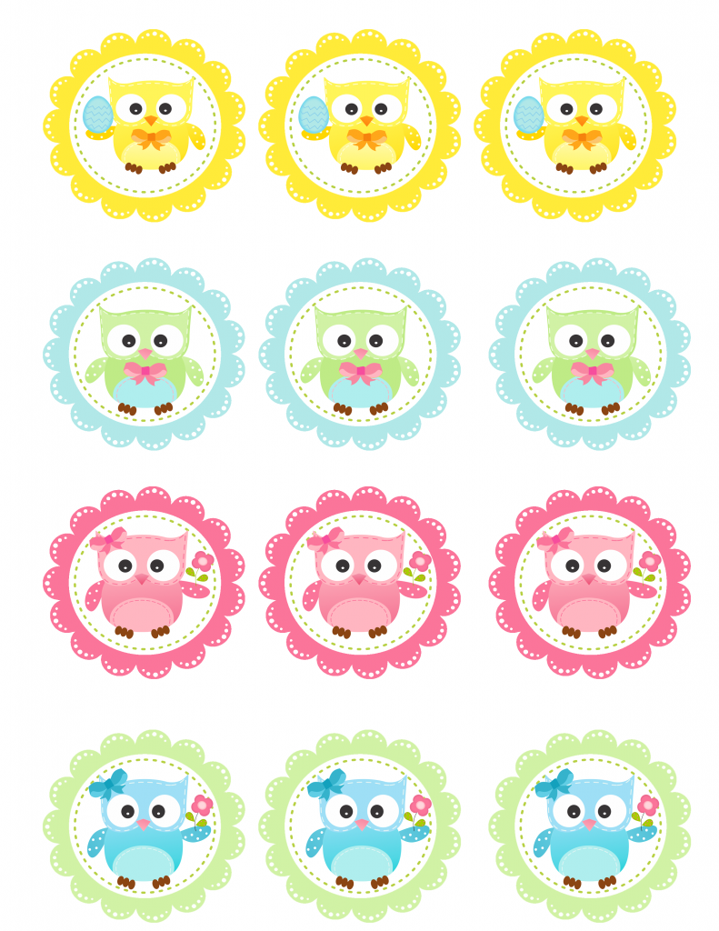 FREE Spring Owl Cupcake Toppers Printable - Onion Rings ...