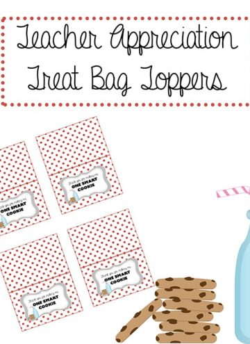 Teacher Appreciation Treat Bag Topper Printable