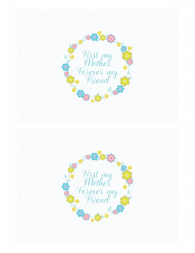 Mother's Day Wine Bottle Tags and Greeting Cards - First my mother, forever my friend