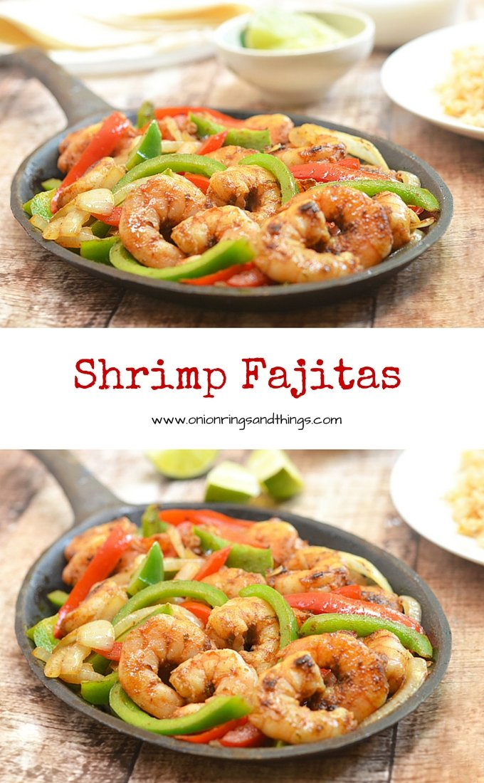 Easy on prep yet big on taste, these shrimp fajitas are what you need for dinner on a busy weekday night! With seasoned shrimp, crisp bell peppers and onions, and your favorite accompaniments all bundled up in warm tortillas, they're sure to be a family favorite.