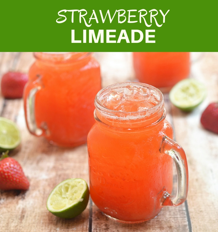 Strawberry Limeade is a refreshing summer drink made with freshly-squeezed lime juice, pureed strawberries and simple syrup. It's fresh, tangy, fruity and the perfect way to beat the heat.