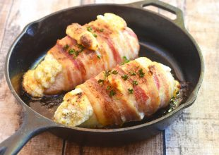 Bacon-Wrapped Cheese-Stuffed Chicken