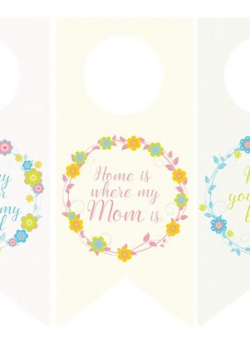 Mother's Day Wine Bottle Tags and Greeting Cards FREE Printables