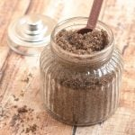 Homemade Coffee Sugar Body Scrub is a luxurious body treat that will leave you feeling refreshed and invigorated, and your skin smooth and silky soft. Easy, inexpensive to make and with only three all-natural ingredients!
