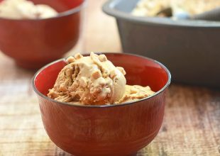 No-Churn Coffee Brickle Ice Cream