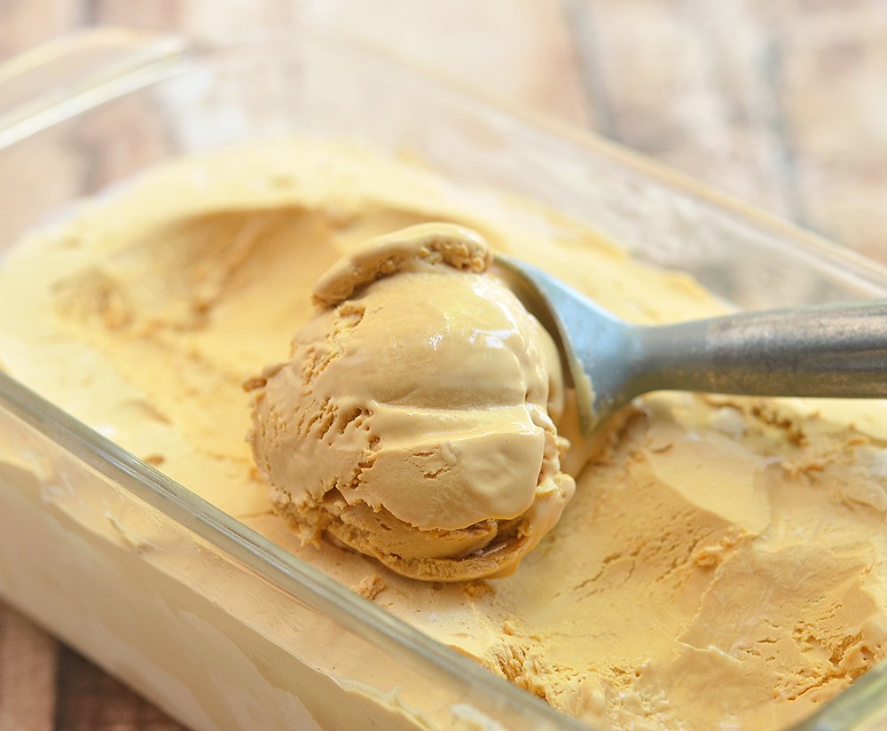 You'll love every scoop of this two-ingredient dulce de leche ice cream.