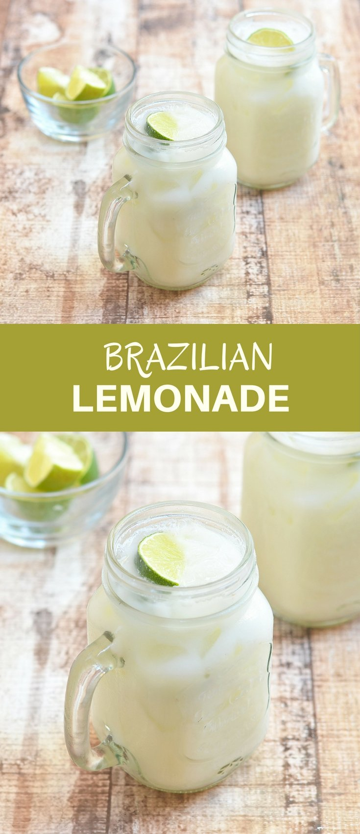 Brazilian Lemonade made with fresh limes and condensed milk is the perfect blend of sweet, tangy, and creamy. It's a delicious way to refresh and cool down this summer!
