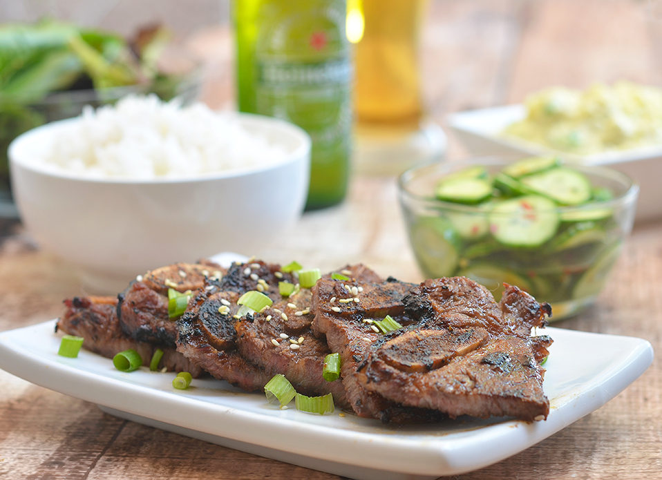Moist and flavorful Korean BBQ Kalbi are so easy to make and grill up in no time. They're so addicting, it will be hard to eat just one!