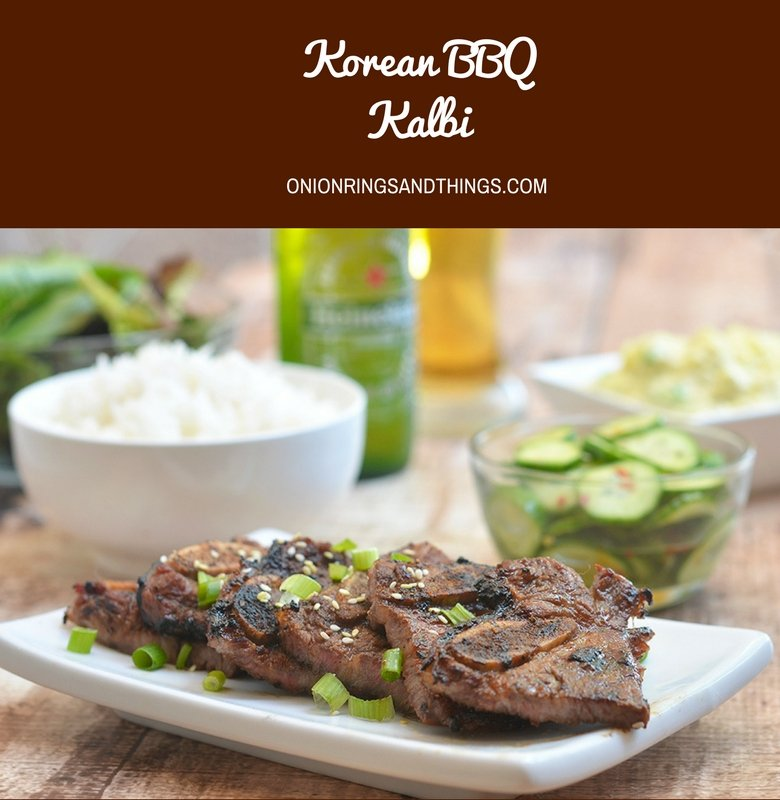 Moist and flavorful, these Korean BBQ Kalbi are so easy to make and grill up in no time. They're so addicting, it will be hard to eat just one! Msg 4 21+ #ad