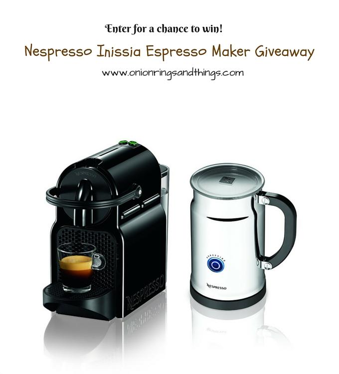 Nespresso Inissia Espresso Maker Giveaway