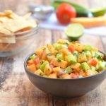 Cantaloupe Cucumber Salsa