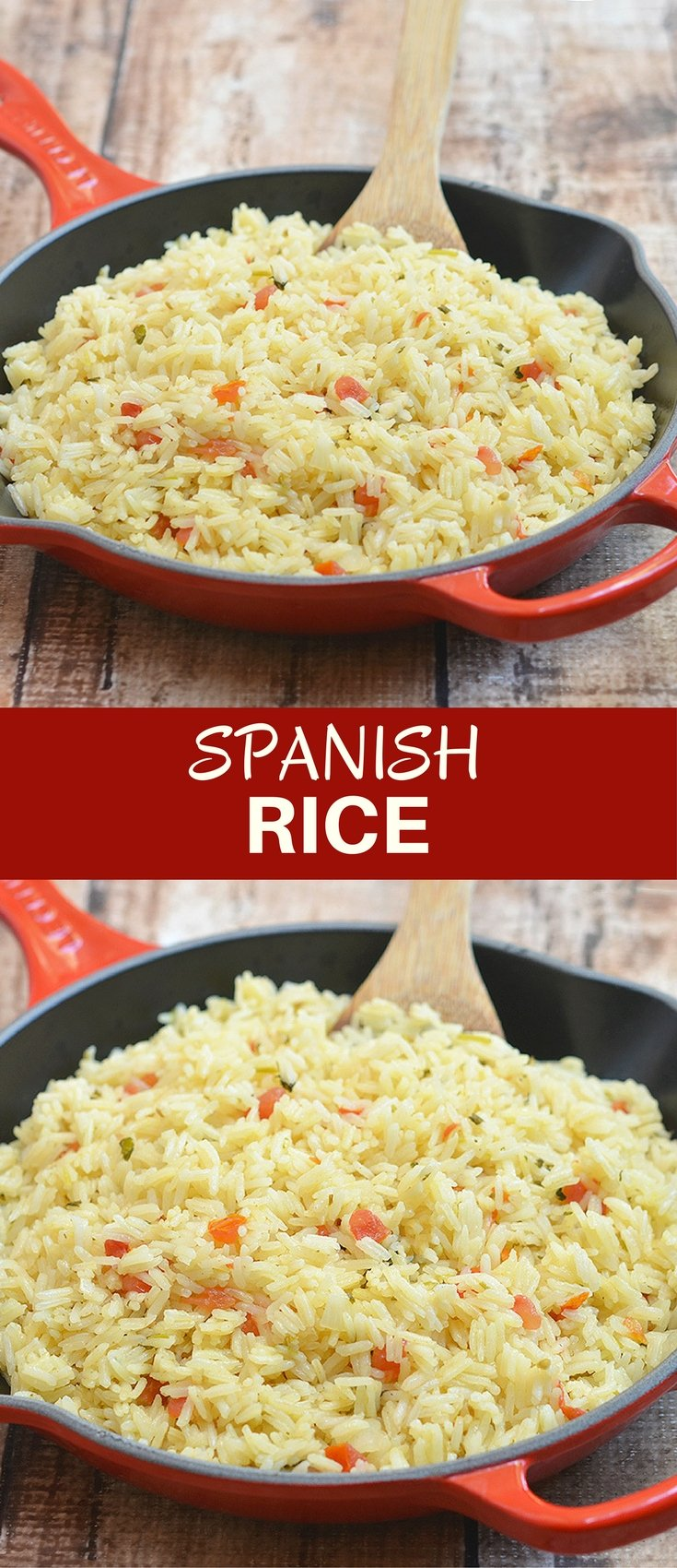 Spanish rice with fresh tomatoes, onions, garlic, cilantro, and lime juice is the perfect accompaniment to your favorite Mexican entrees. Quick and easy to make and cooks in one pan!