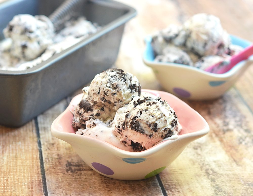 No-churn Cookies and Cream Ice Cream is rich, silky, and generously studded with Oreos! Only 4 ingredients and no ice cream maker or fancy equipment needed to make this amazing summer treat!
