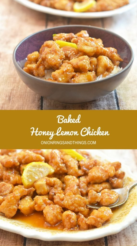 Baked Honey Lemon Chicken bursting with sweet honey and fresh lemon flavors, and baked for a healthier twist is the epitome of modern comfort food. Refreshing tangy and delicious, it's amazing over steamed rice!