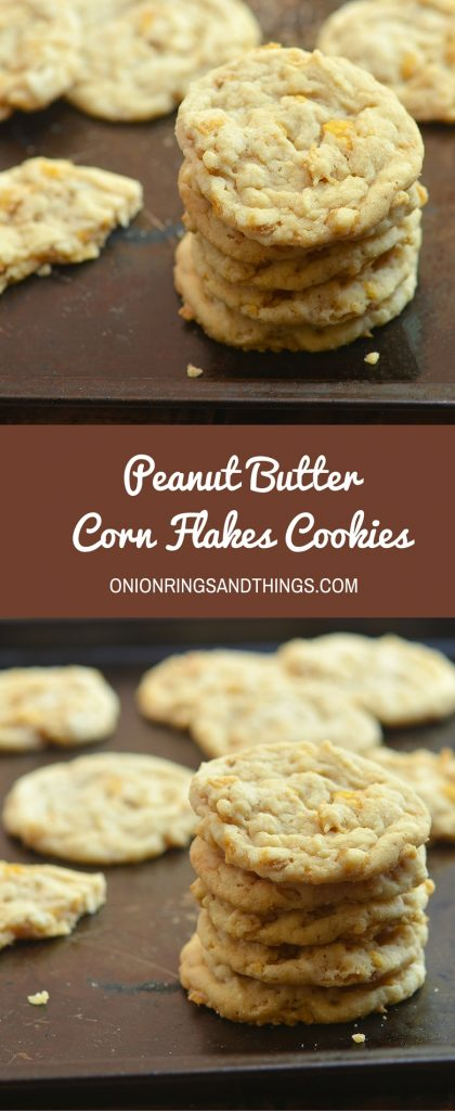 Crisp, chewy, and loaded with peanut butter flavor and crunchy corn flakes, Peanut Butter Corn Flakes Cookies are a piece of sweet heaven. Enjoy them with a glass of ice cold milk for the perfect midday snack or anytime treat!