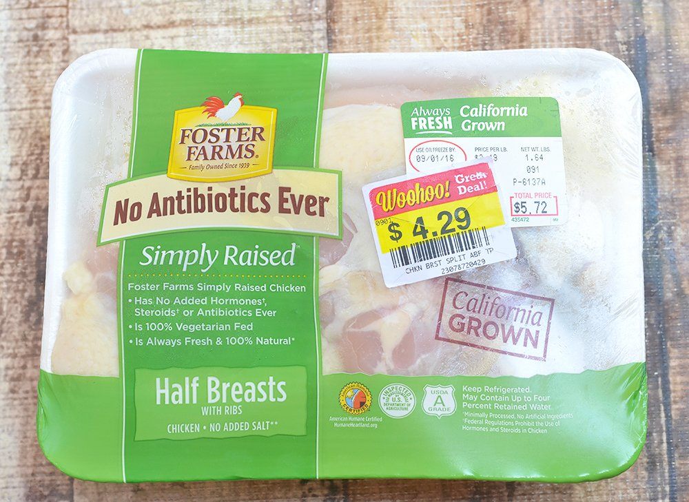 Foster Farms antibiotic-free simply raised chicken is perfect for this healthy chicken recipe.