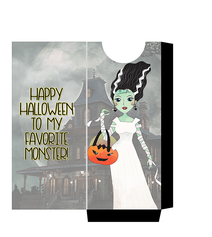 FREE Munsters Candy Bar Sleeve Printables-Bride- celebrate halloween with these cool and spooky candy sleeves