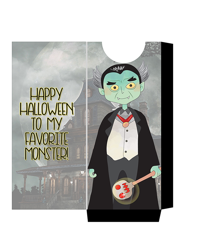 FREE Munsters Candy Bar Sleeve Printables-Dracula- adorable Munster halloween candy sleeves