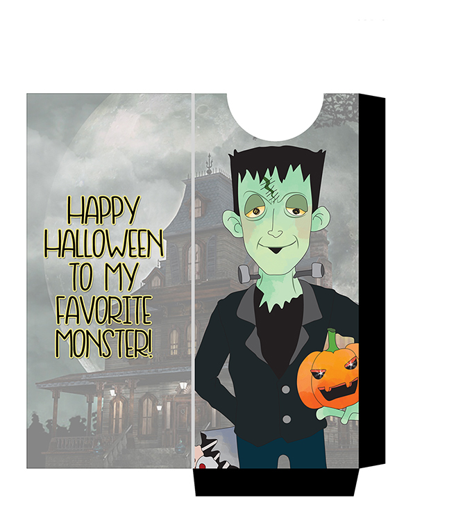 FREE Munsters Candy Bar Sleeve Printables-Herman- spook up your halloween candy with these candy sleeves