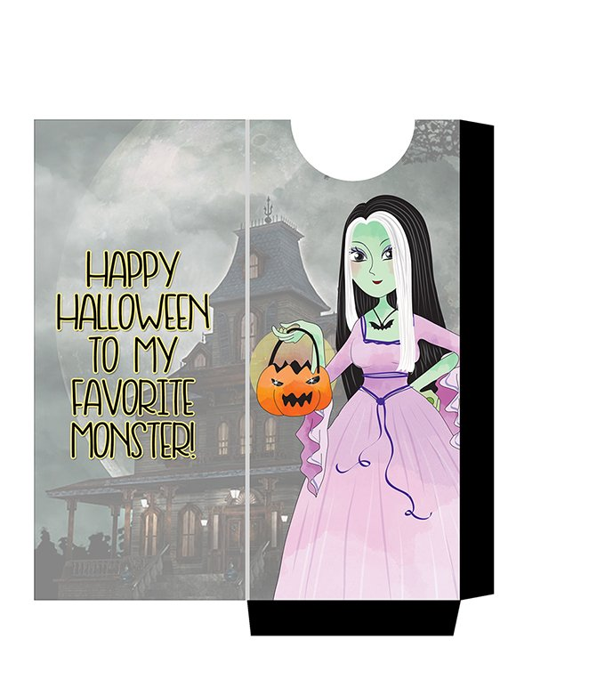 FREE Munsters Candy Bar Sleeve Printables-Lily- slide these over your halloween candy bars for a spooky treat