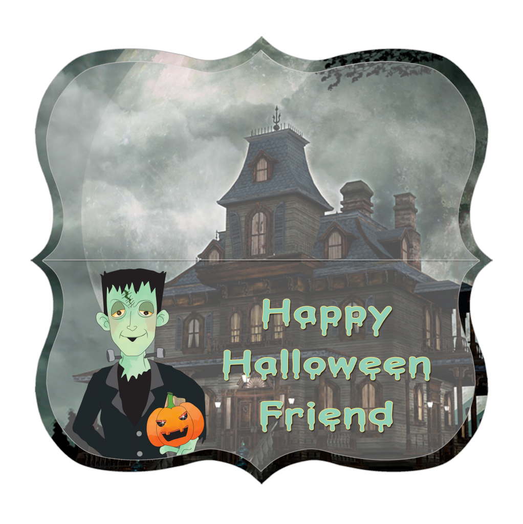 Herman Minster treat bag toppers are easy Halloween party favors