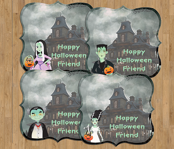 FREE Munsters Treat Bag Toppers Printables for more ghoulish fun this Halloween! Use them to top Halloween goodie bags and watch the little ones scream with glee!