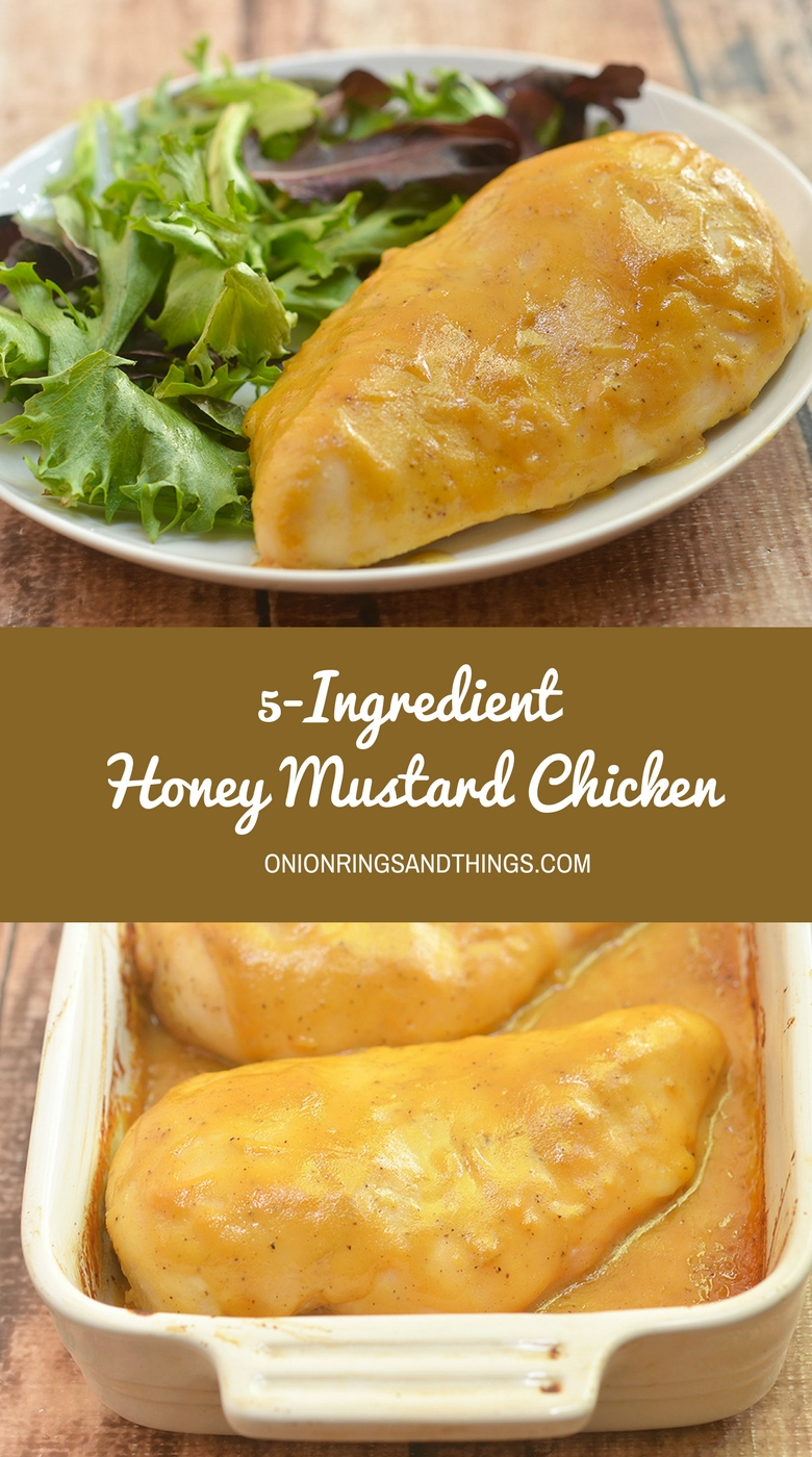 5-Ingredient Honey Mustard Chicken is moist, flavorful and amazing over rice. With only five ingredients and ready in 30 minutes, it's a delicious way to get dinner in a hurry.
