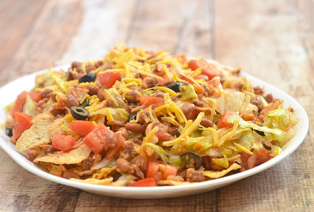 Trash Bag Taco Salad