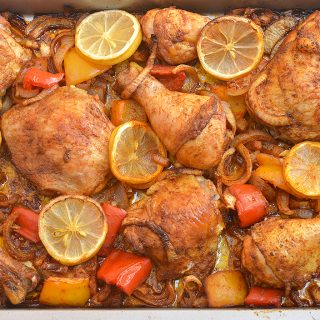 Roasted Chicken with Sweet Onions