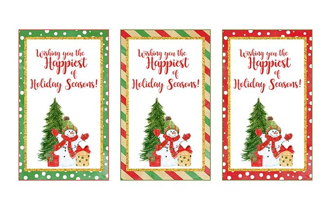 Christmas Wine Labels Printable