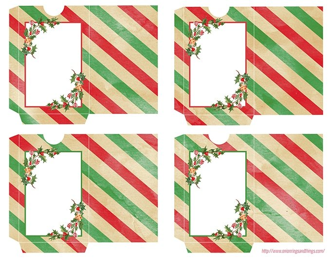 Christmas gift card holder printable