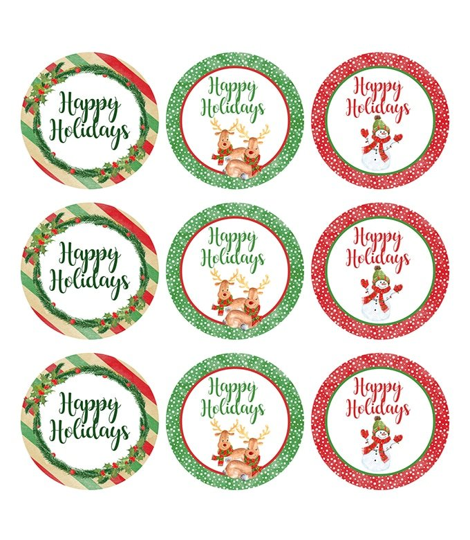 Christmas Cupcake Toppers Printable