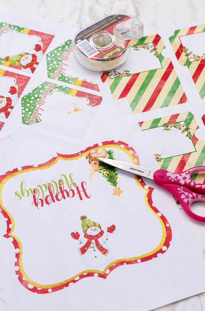 printables for Christmas gifts