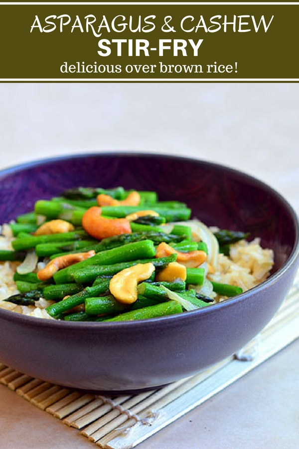 Asparagus and Cashew Stir-fry - Onion Rings & Things