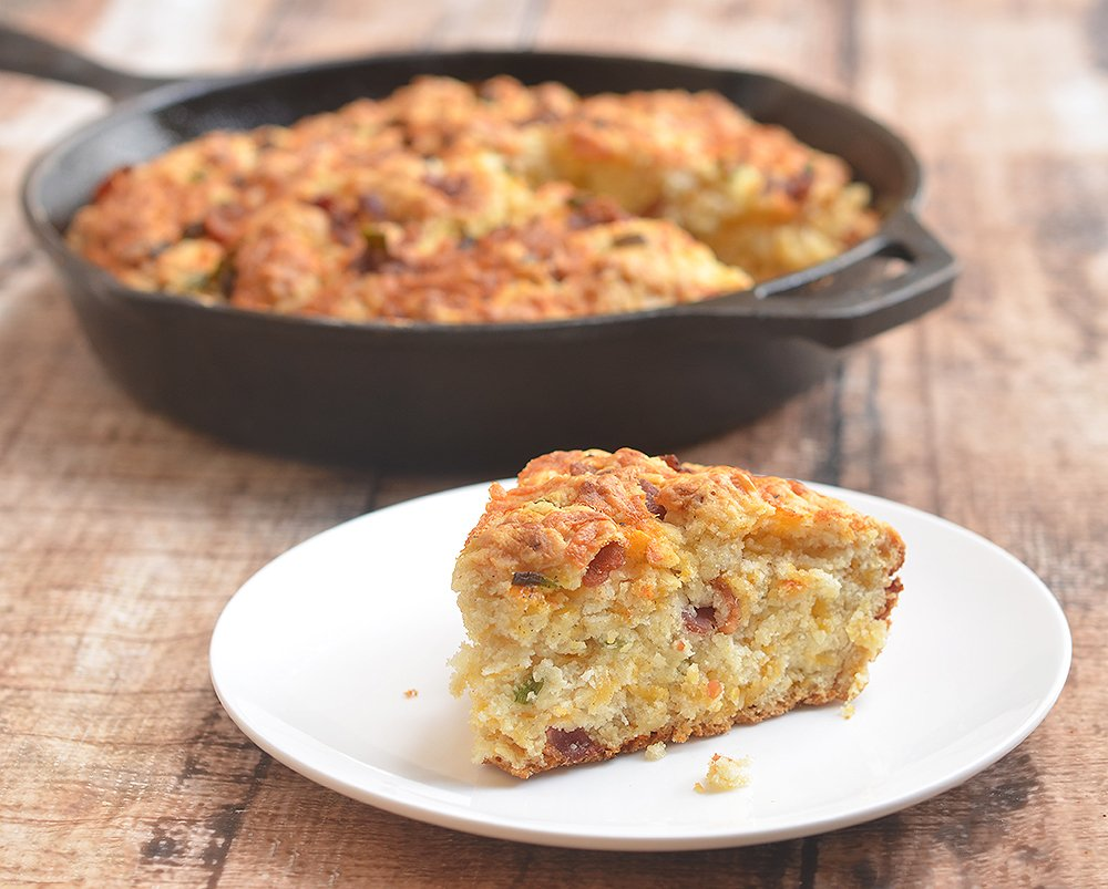 Skillet Cheddar-Bacon Beer Bread