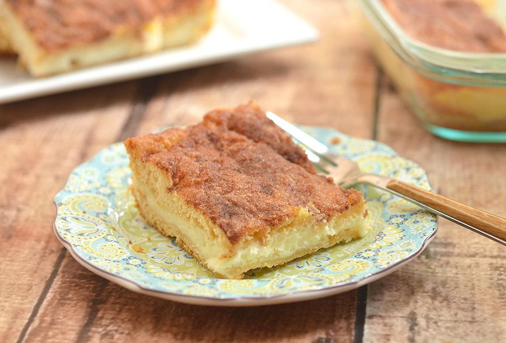Make sure to double the batch of these sopapilla cheesecake bars, as your guests will be lining up for more!