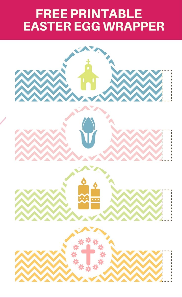 graphic regarding Printable Easter Decorations named Easter Egg Wrapper Printables Onion Rings Components