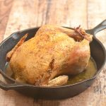 Weeknight Roast chicken that's golden and crisp on the outside and moist, tender, and flavorful on the inside. All it takes is one hour to have this scrumptious meal on the dinner table making it the perfect meal for busy weeknights.