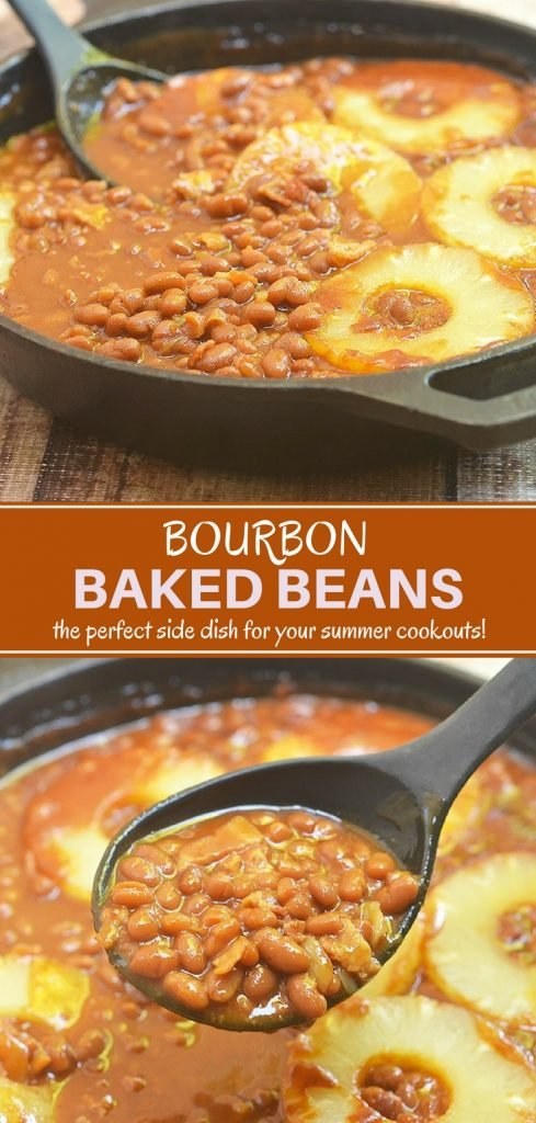 Bourbon Baked Beans with Bacon and Pineapples