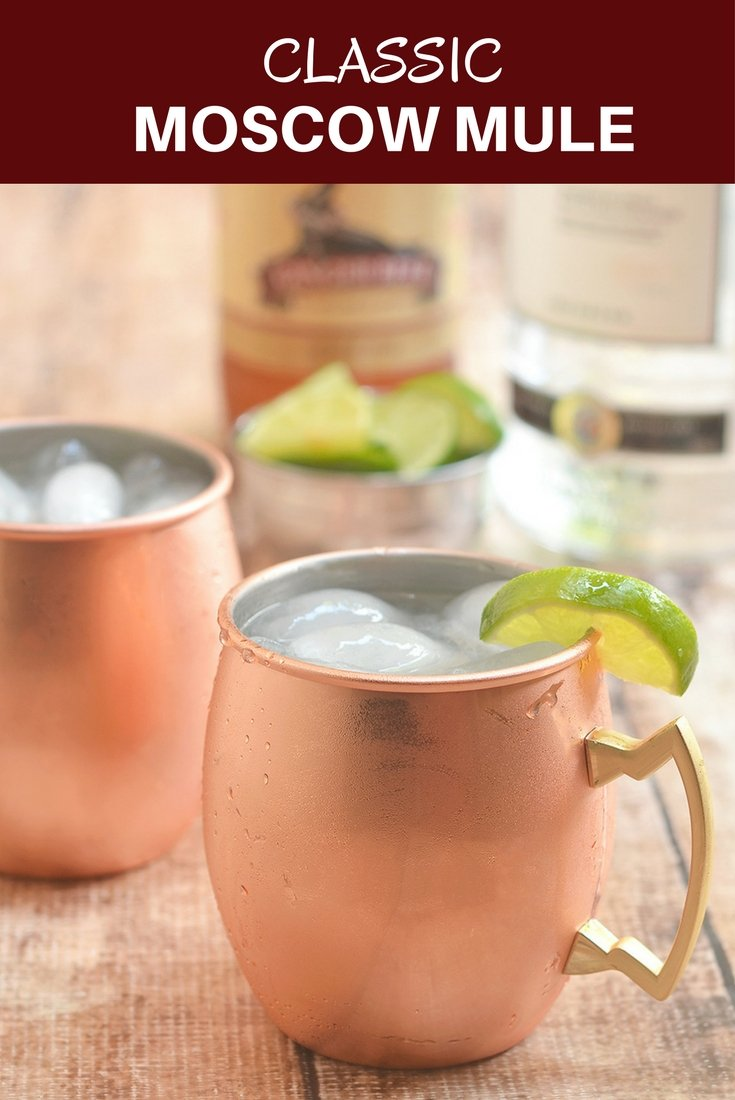 Classic Moscow Mule made with vodka, ginger beer, and lime juice. Tart and refreshing, it's a fun cocktail perfect for all seasons!
