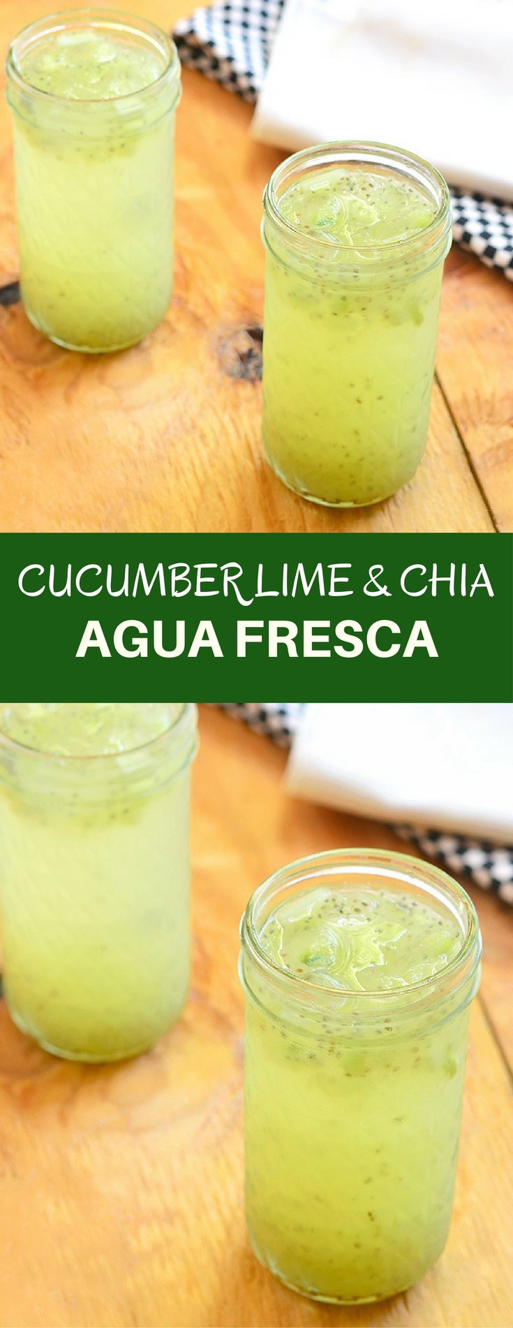 Cucumber Lime and Chia Fresca is a refreshing drink you'd want all summer long. With fresh cucumbers, freshly-squeezed lime juice, and superfood chia, this aqua fresca is a delicious way to hydrate!