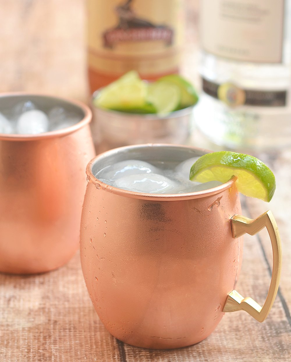 Serve up a frosty copper mug filled with a spicy, refreshing classic Moscow mule.