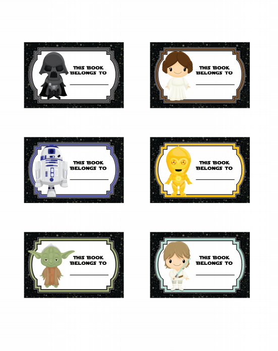 Star Wars Book Labels FREE Printable