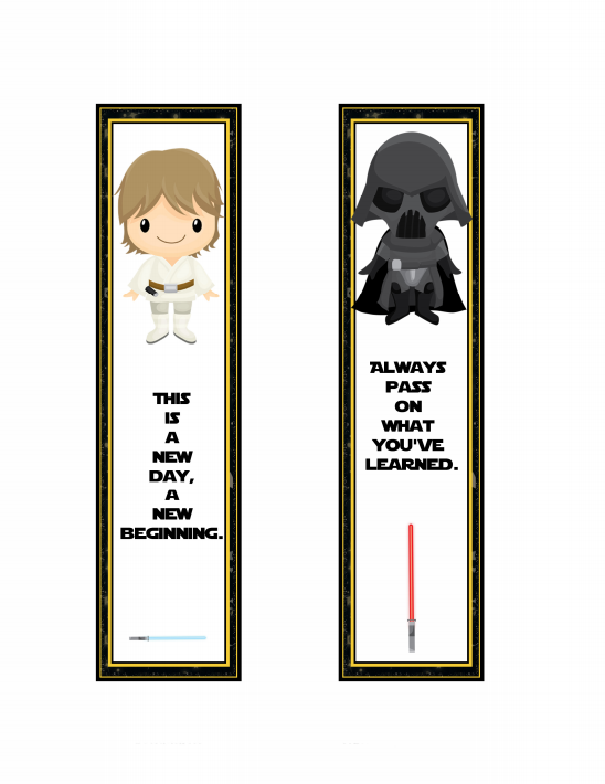 Star Wars Bookmarks FREE Printable
