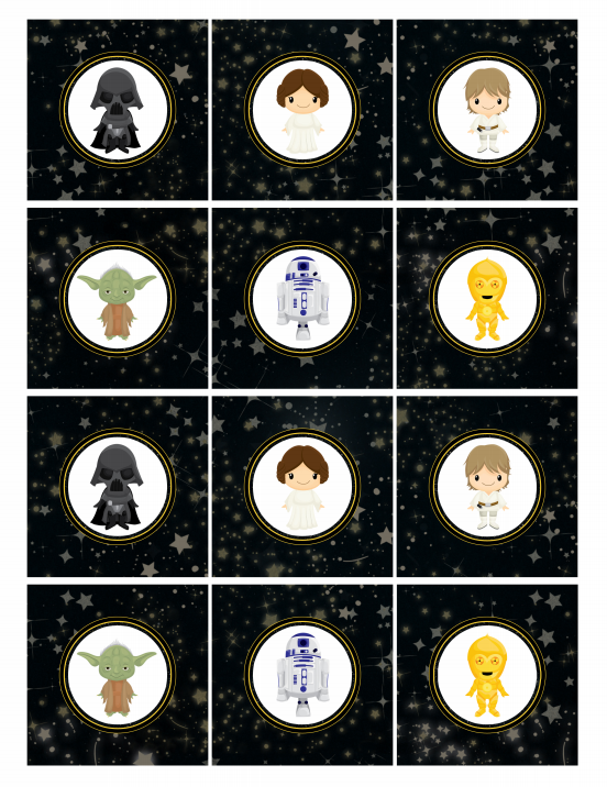 Star Wars Cupcake Toppers FREE Printable