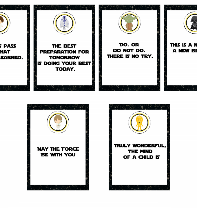 Star Wars Lunch Notes Free Printable