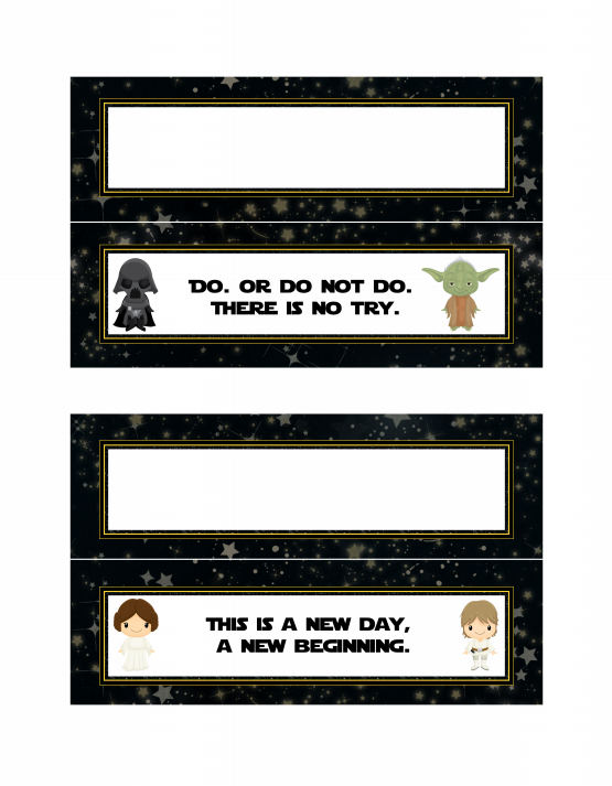 Star Wars Treat Bag Toppers Free Printable