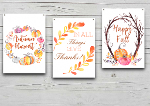 Fall Decor FREE Printables
